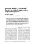 Study on Strategic Project Leadership