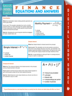 Finance Equations And Answers (Speedy Study Guides)