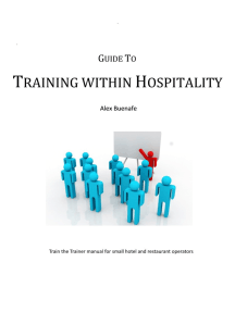 Guide To Training Within Hospitality