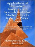 Application of Derivatives Tangents and Normals (Calculus) Mathematics E-Book For Public Exams