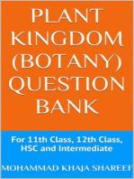 Plant Kingdom (Botany) Question Bank
