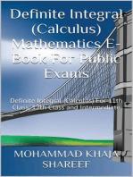 Definite Integral (Calculus) Mathematics E-Book For Public Exams