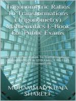 Trigonometric Ratios to Transformations (Trigonometry) Mathematics E-Book For Public Exams
