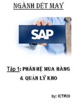 Phân Hệ Mua Hàng và quản lý Kho SAP AFS Ngành DỆT MAY