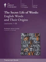 The Secret Life of Words: English Words and Their Origins (Transcript)