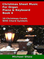 Christmas Sheet Music For Organ Piano & Keyboard Book 4