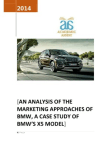 Marketing Approaches of BMW - White Paper