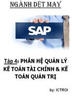 Phân Hệ Quản Lý Kế tóan Tài Chính & Kế Toán Quản trị SAP AFS Ngành DỆT MAY