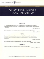 New England Law Review: Volume 49, Number 2 - Winter 2015