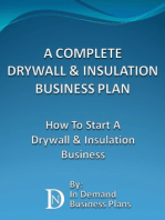 A Complete Drywall & Insulation Installation Business Plan