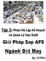 Phân Hệ Lập Kế Hoạch và Quản Lý Sản Xuất SAP AFS Ngành DỆT MAY