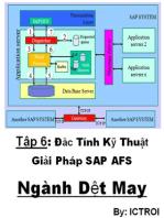Đặc Tính Kỹ Thuật Giải Pháp SAP AFS Ngành Dệt May