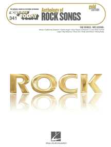 Anthology of Rock Songs - Gold Edition: E-Z Play Today Volume 341