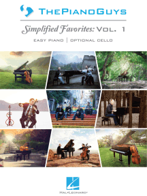 The Piano Guys -¦Simplified Favorites, Vol. 1: Easy Piano Arrangements with Optional Cello Parts