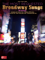 Anthology Of Broadway Songs Gold Edition Sheet Music