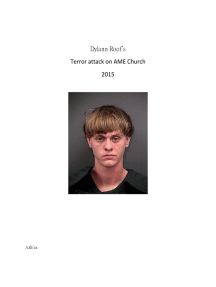 Dylann Roof's Terror Attack on AME Church 2015