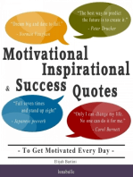 Motivational, Inspirational and Success Quotes