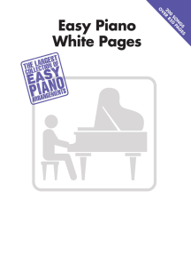 Easy Piano White Pages
