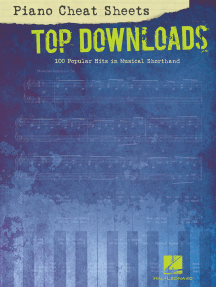 Piano Cheat Sheets: Top Downloads: 100 Popular Hits in Musical Shorthand