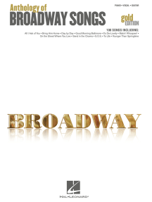 Anthology of Broadway Songs - Gold Edition (Songbook)