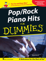 Pop/Rock Piano Hits for Dummies
