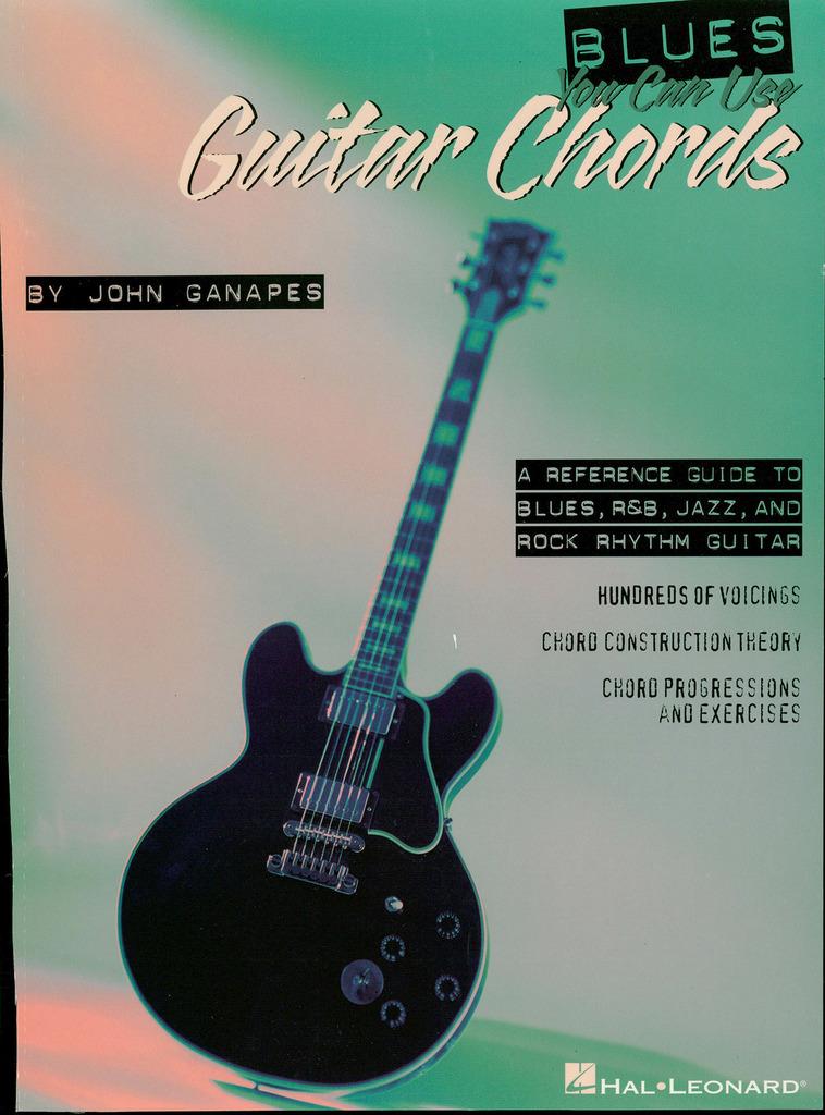 Blues You Can Use Book Of Guitar Chords De John Ganapes