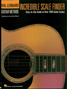 Incredible Scale Finder: A Guide to Over 1,300 Guitar Scales 9 x 12 Ed. Hal Leonard Guitar Method Supplement