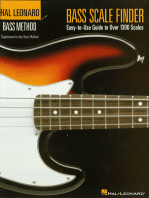 Bass Scale Finder: Easy-to-Use Guide to Over 1,300 Scales 9 inch. x 12 inch. Edition