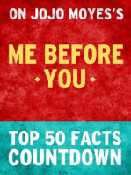 Me Before You by Jojo Moyes- Top 50 Facts Countdown