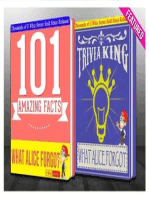 What Alice Forgot - 101 Amazing Facts & Trivia King!