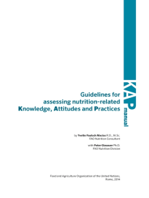 Guidelines for Assessing Nutrition-Related Knowledge, Attitudes and Practices
