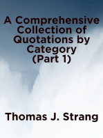A Comprehensive Collection of Quotations by Category (Part 1)