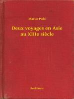Deux voyages en Asie au XIIIe siecle