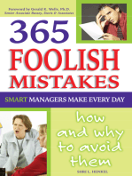 365 Foolish Mistakes Smart Managers Make Every Day