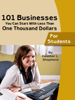 101 businesses You Can Start With Less Than One Thousand Dollars