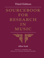 Sourcebook for Research in Music, Third Edition