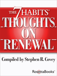 The 7 Habits Thoughts on Renewal