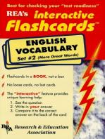 English Vocabulary - Set #2 Interactive Flashcards Book