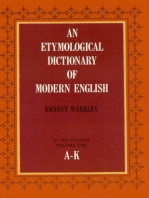 An Etymological Dictionary of Modern English, Vol. 1