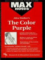 The Color Purple (MAXNotes Literature Guides)