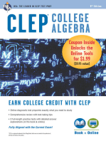 CLEP® College Algebra Book + Online