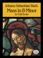 Mass in B Minor in Full Score