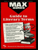 The Guide to Literary Terms (MAXNotes Literature Guides)
