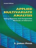 Applied Multivariate Analysis: Using Bayesian and Frequentist Methods of Inference, Second Edition