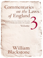 Commentaries on the Laws of England, Volume 3