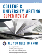 College & University Writing Super Review