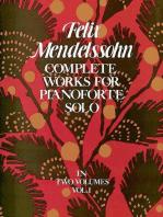 Complete Works for Pianoforte Solo, Vol. I