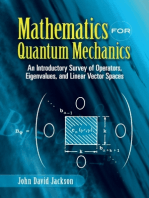 Mathematics for Quantum Mechanics