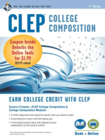 CLEP College Composition Book + Online