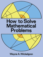 How to Solve Mathematical Problems